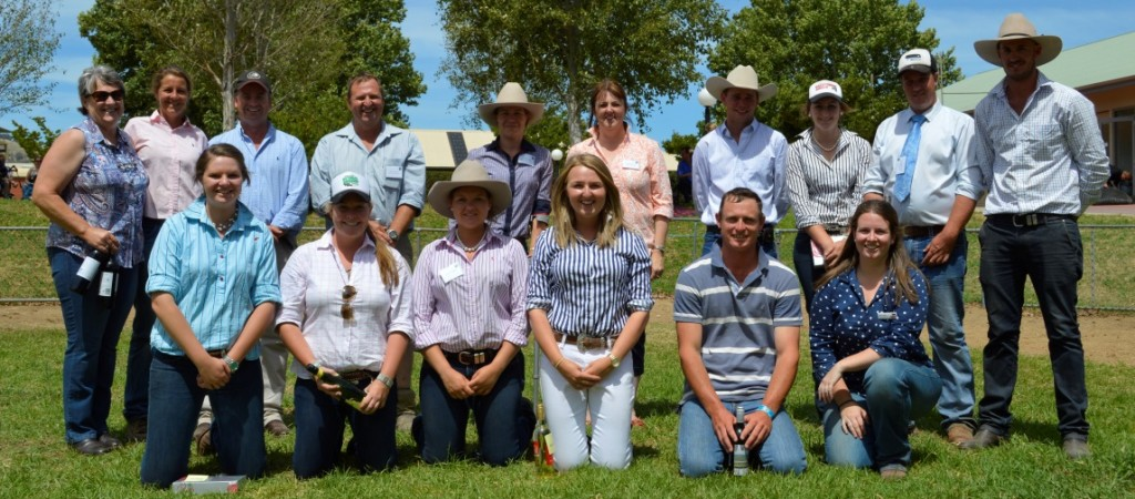 Angus Youth RoundUp Committee Wodonga 2015.  Back Row: Carol Grylls, Bronwyn Halliday, Corey Ireland, Mark Fairlie, Melissa Neal, Lynn Fairlie, Angus McGregor, Kristen Fredericksen, Zac McInerney & Coordinator Trent Walker. Front Row: Dee Branson, Dee George, Laura Grubb, Kate Fairlie, Vice-Coordinator Murk Schoen & AYDO Alice Lodge. Absent: Brianna Barron. Picture from Angus Youth